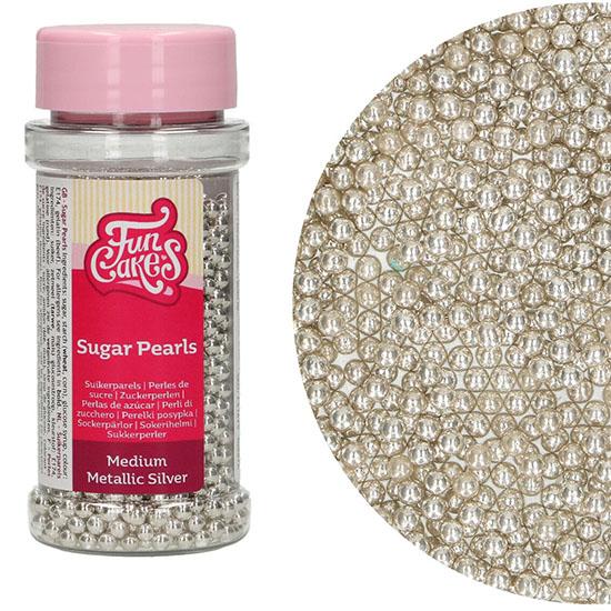 Perle Medii Argintiu Metalic 80G