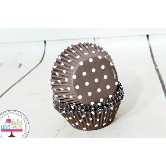 Cupe Cupcakes Maro cu Buline x 75buc