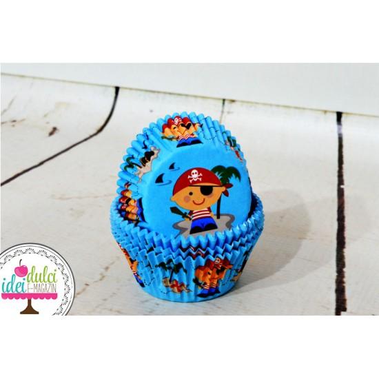 Cupe Cupcakes Pirati x 50buc