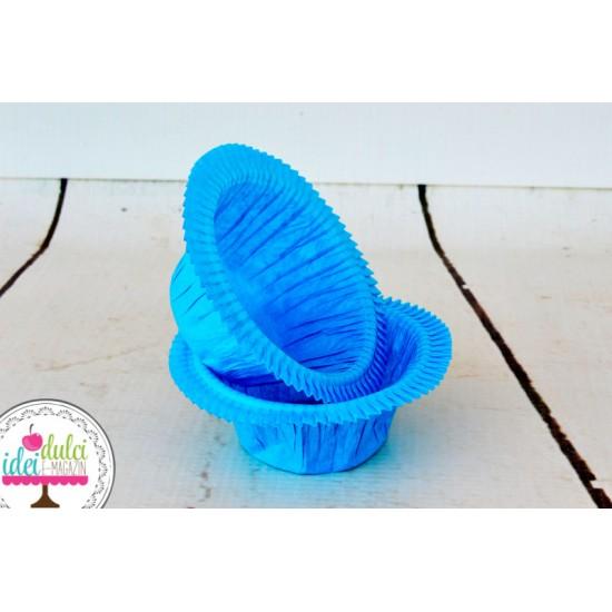 Cupe Cupcakes Incretite Albastre Set x 25buc