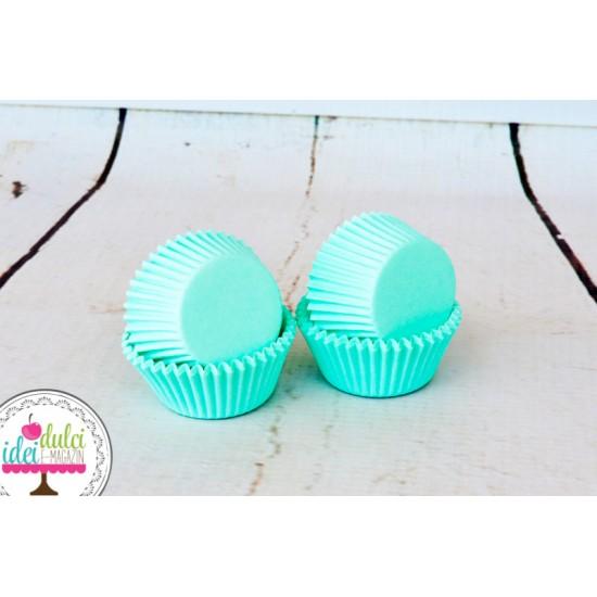 Mini Cupe Cupcakes Verde Menta x 60buc
