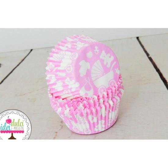 Cupe Cupcakes Baby Girl x 50buc