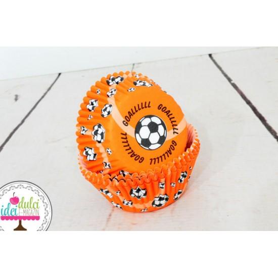 Cupe Cupcakes Mingi Fotbal x 50buc