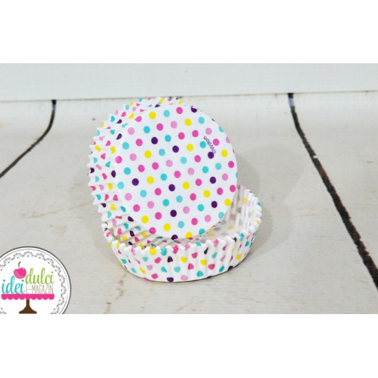 Cupe decorative rotunde cu buline x 24buc