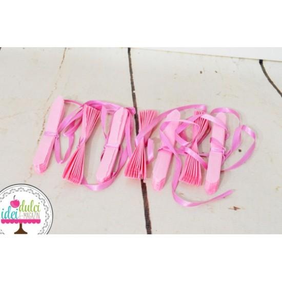 Ghirlandă Roz Pastel