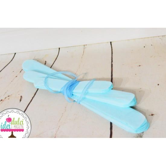 Pom-Poms Bleu x 3buc