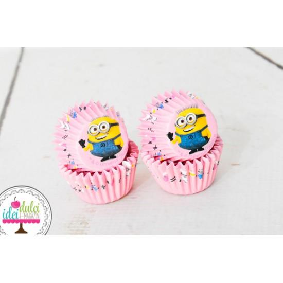 Mini cupe Cupcakes Minions x 60buc