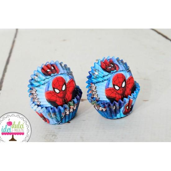 Mini Cupe Cupcakes Spiderman x 60buc