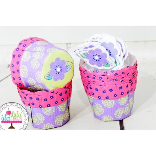 Cupe Cupcakes Margareta cu Toppers Set x12