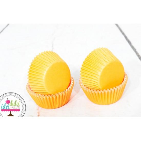 Mini Cupe Cupcakes Portocalii Set x 60buc