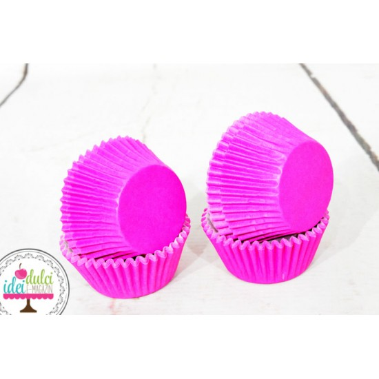 Mini Cupe Cupcakes Roz Aprins Set x 60buc