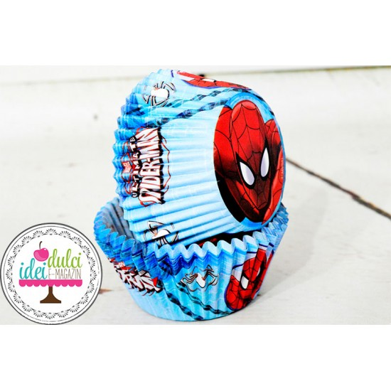 Cupe Cupcakes Spiderman x 60buc