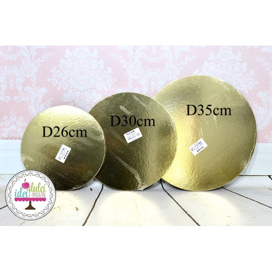 Disc Baza Tort Auriu/Argintiu D35cm Set x 3buc