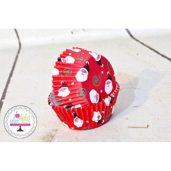 Cupe Cupcakes Mos Craciun x 50buc