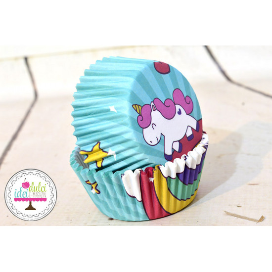 Cupe Cupcakes Unicorn x 50buc