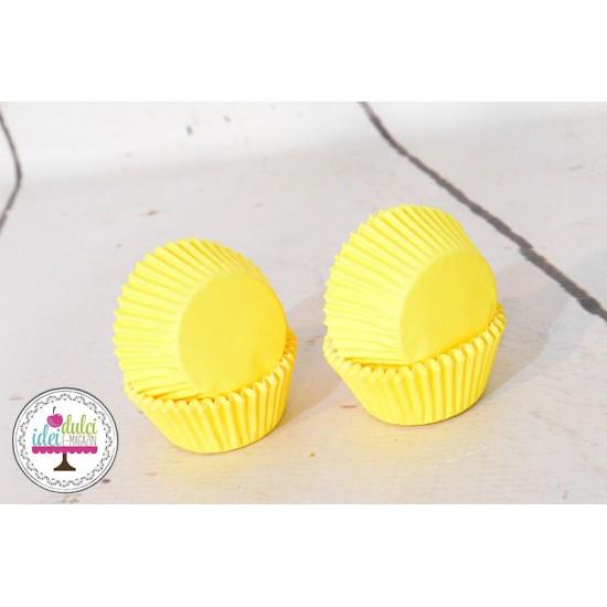 Mini Cupe Cupcakes Galbene x 60buc