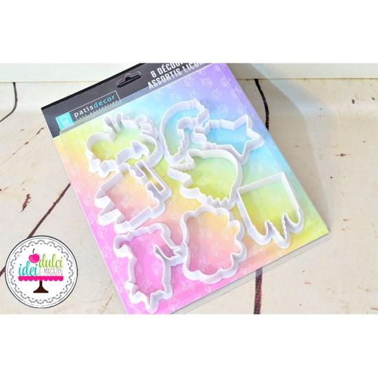 Decupator Unicorn Set x 8buc