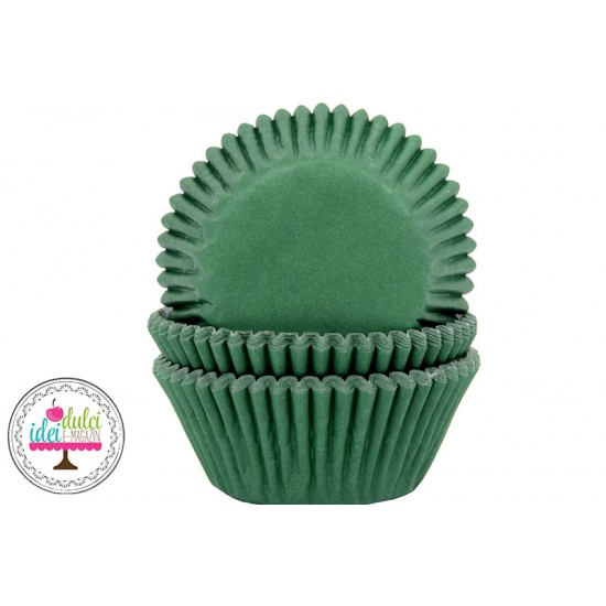 Cupe Cupcakes Verde Inchis x 50buc