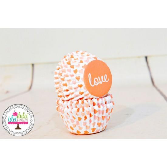 Mini Cupe Cupcakes in Love x 100buc
