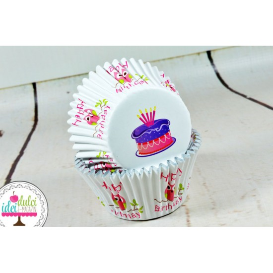 Cupe Cupcakes Bufnite (cu folie) x 30buc