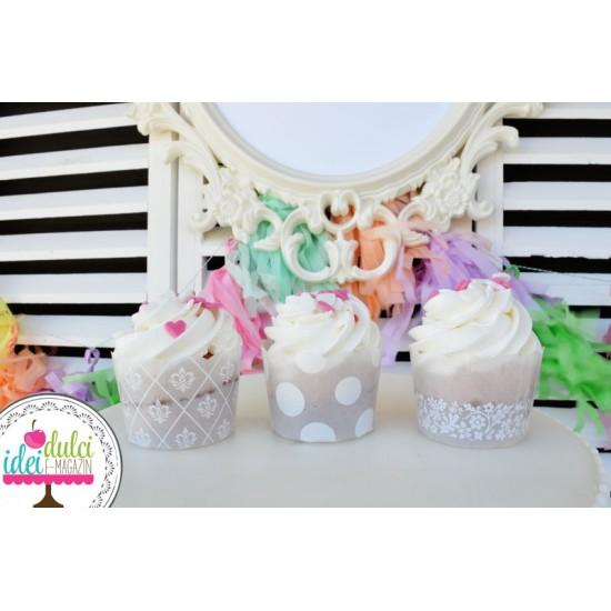 Mini Cupa Cupcake Alba