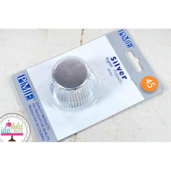 Mini Cupe Argintiu Metalic x 45buc
