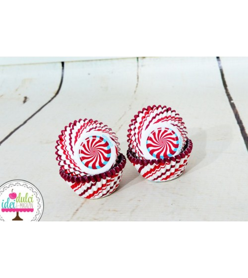 Mini Cupe Cupcakes Candy Cane x100