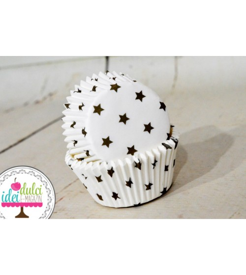 Cupe Cupcakes Stelute Aurii x50