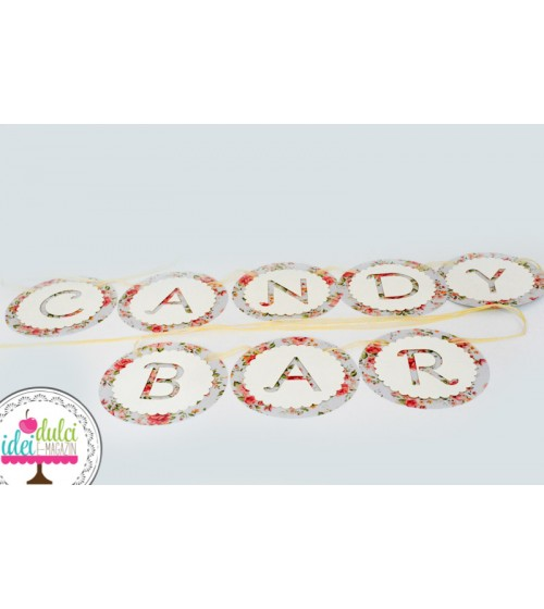 Ghirlanda Candy Bar Shabby Chic