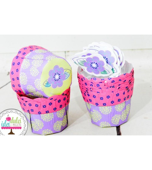Cupe Cupcakes Margareta cu Toppers Set x12