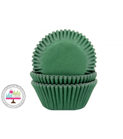 Cupe Cupcakes Verde Inchis x50