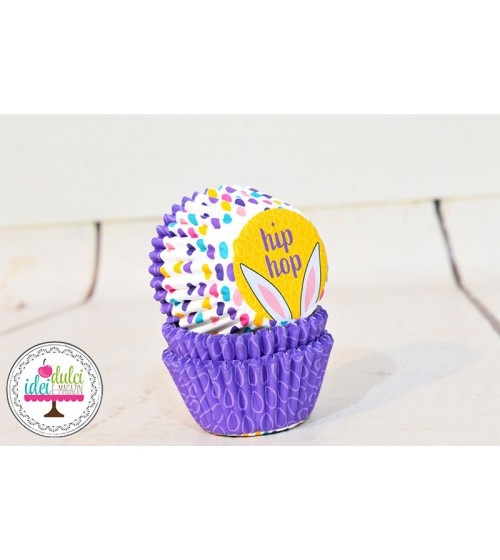 Mini Cupe Cupcakes HipHop Iepuras x100