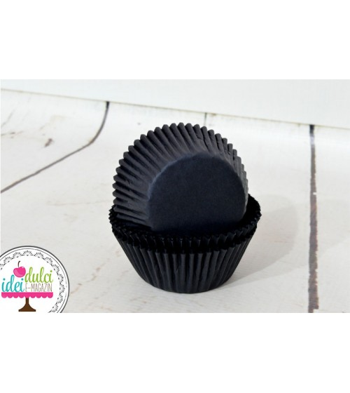 Cupe Cupcakes Negre x50