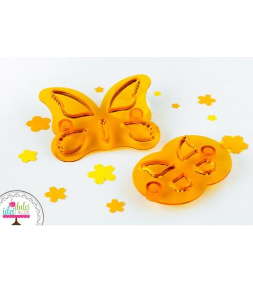 Decupator JEM plastic fluture set de 2 piese