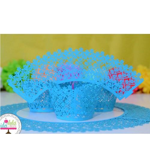 Set învelitori Cupcake Bleu